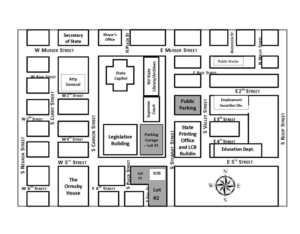 Map of Legislative Complex
