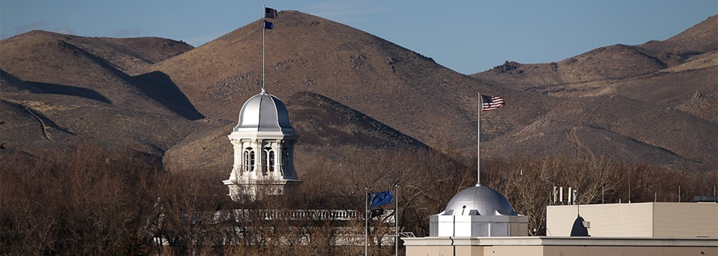 View of the Nevada Capitol and State Legislature Domes