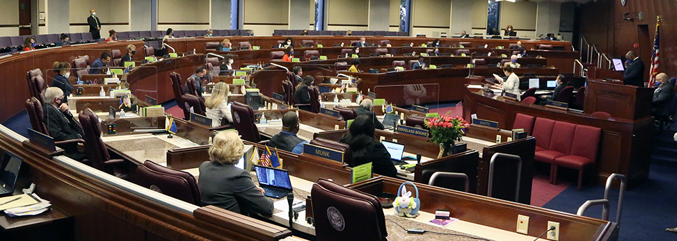 Nevada Assembly Chamber during the 31st Special Session